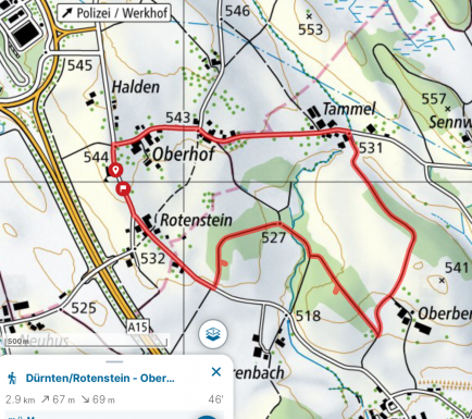 Spaziergang Rotenstein - Tammel